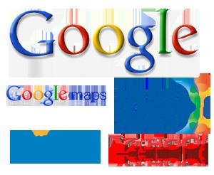 Google Yahoo Bing MSN Google Maps Logos